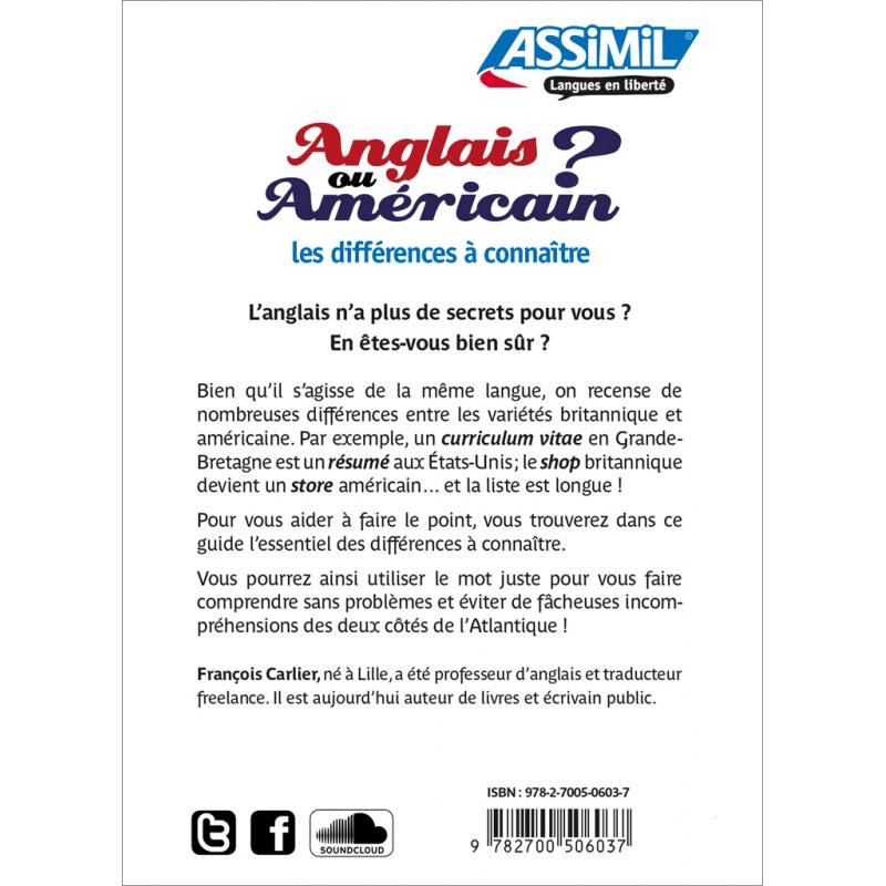 anglais britannique ou anglais am u00e9ricain    u2013 assimil