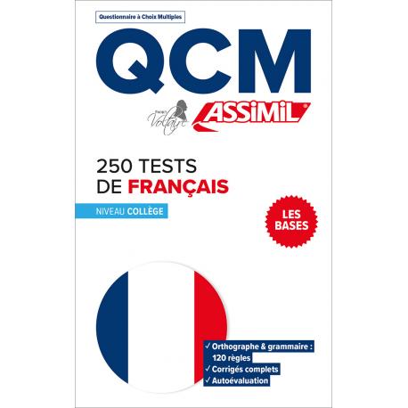 250 tests de français - Niveau collège - Les bases