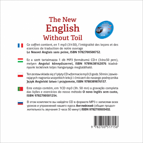 The New English Without Toil (CD mp3 Anglais)