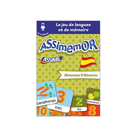 Mes premiers mots espagnols: Alimentos y Números (livre numérique enrichi)