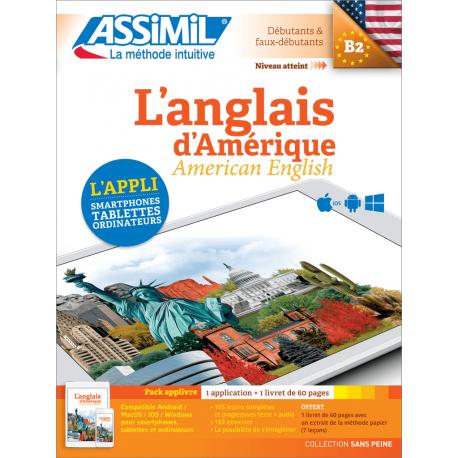 L'anglais d'Amérique (pack App-livre)